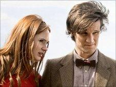 Karen Gillan and Matt Smith, as Amy Pond and the Doctor in Doctor Who