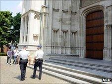 Belgian police outside St Rumbold's Cathedral in Mechelen