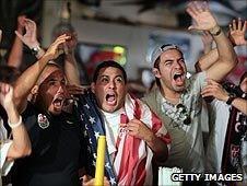 Fans in a bar