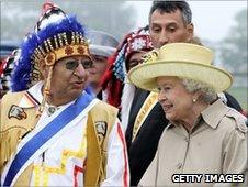 The Queen and a Mi'kmaq leader