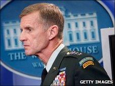 Gen Stanley McChrystal at the White House