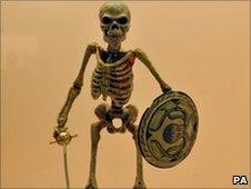 One of the original seven skeletons which appeared in 1963 film Jason and the Argonauts