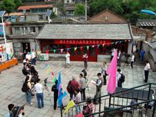 Media in Xiwangping square, China