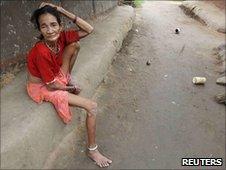 Tribal woman in Chhattisgarh