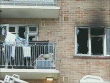 Scene of the fire in Brighton