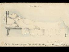 Image of Napoleon on his deathbed painted by Denzil Ibbetson (courtesy of Art+Object auction house)