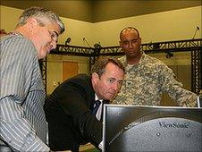 Liam Fox at the Walter Reed Army Medical Centre