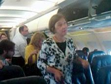 Passengers on board the US Airways flight