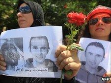 Egyptian women protest in Alexandria, 25 June