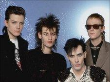 Bauhaus from a 1983 Top of the Pops appearance (Peter Murphy is second from right)