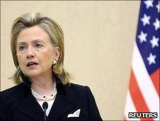 US Secretary of State Hillary Clinton in Baku (4 July 2010)