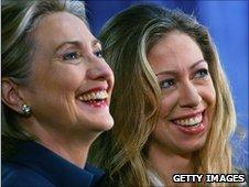 Hillary (left) and Chelsea Clinton