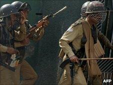 CRPF personnel in Srinagar