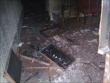 The office was attacked on Wednesday night