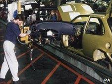 Ford Fiesta production line at the Ford Motor Comany in Dagenham in 1996