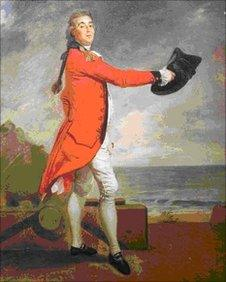 Major George Maule by Johann Zoffany
