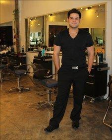 William Isaac in his salon