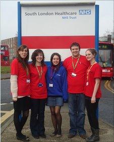 A group of hospital volunteers