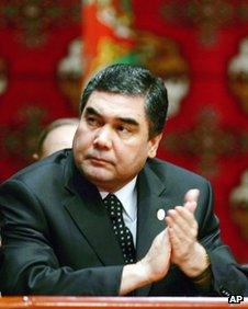 File image of President Gurbanguly Berdimuhamedov