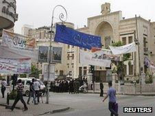 Candidate banners in Damascus