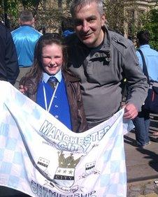 Andrew Hyland, with daughter Isabelle
