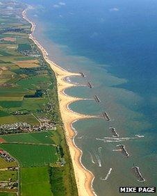 Aerial view of Sea Palling