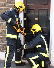 Firefighters acting as locksmiths