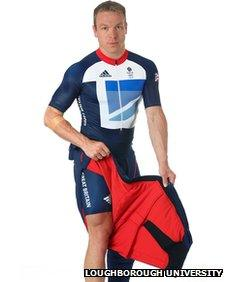 Sir Chris Hoy wearing battery-powered trousers