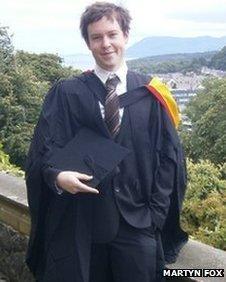 Jamie Fox graduation picture