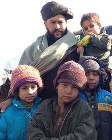 Taj Mohammad and his family
