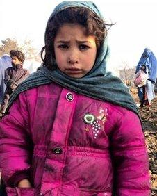 Displaced girl from Helmand in Qambar camp