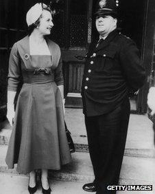 Margaret Thatcher at Parliament in 1959