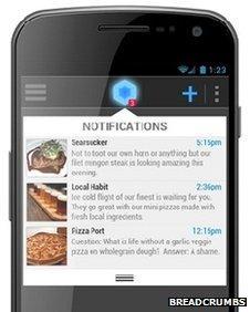 Breadcrumbs app