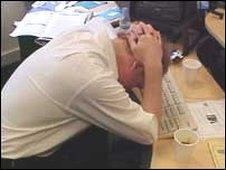 Image of a stressed worker
