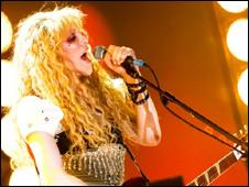 Courtney Love performs with Hole