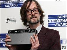 Jarvis Cocker with his award