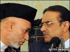 Hamid Karzai and Asif Ali Zardari