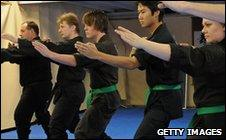 Students at Sydney martial arts school