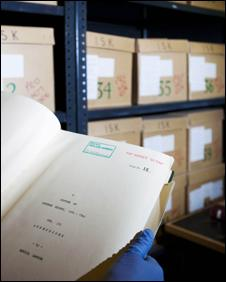 The hard copies of documents stored at Bletchley Park