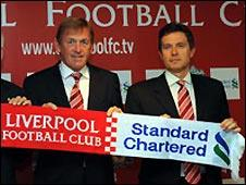 Liverpool signed a big sponsor deal with Standard Chartered in 2009