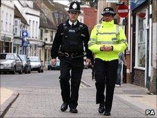 Two officers on the beat