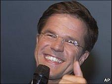 Liberal WD Party leader Mark Rutte