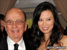 Rupert Murdoch and his wife Wendi Deng in New York last month