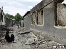 Residents in riot-hit village of Vlksm, 16/06