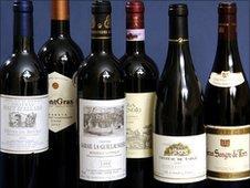 Generic image of wine bottles