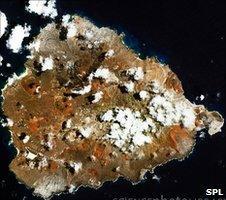 Satellite image of Ascension Island