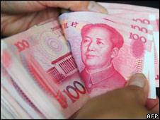 100 yuan notes