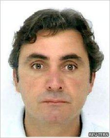 A handout photo released by the Italian police on June 25, 2010 shows Mafia boss Giuseppe Falsone