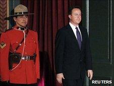 David Cameron arrives at the G20 summit
