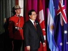 President Hu Jintao arrives at the G20 Summit in Toronto